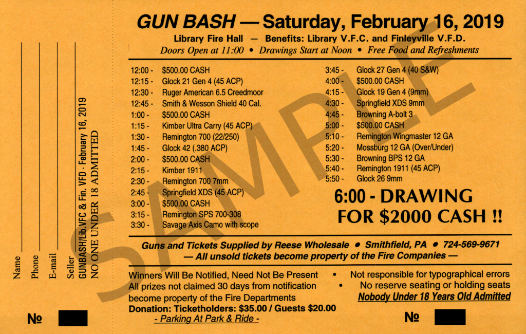 Gun Bash Ticket