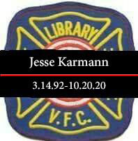 Jesse karmann 3/14/92-10/20/20 logo with black band